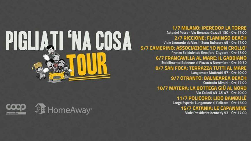 """Il """"Pigliati 'na cosa"""" tour di Casa Surace fa tappa a Matera"""